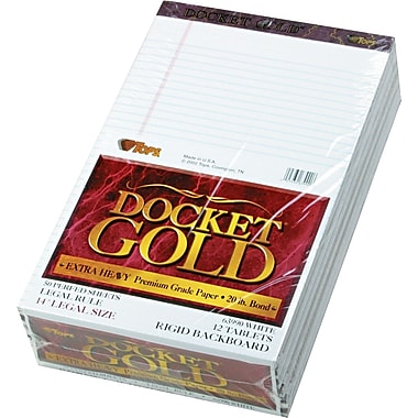TOPS® Docket Gold Notepad, 8-1/2