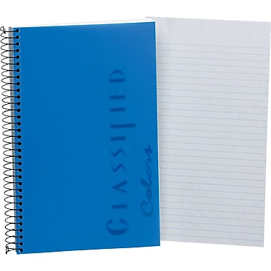 TOPS® Classified™ Colors Business Wirebound Notebook, College Ruled, Indigo, 8 1/2