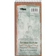 "TOPS® Second Nature® Wirebound Notebook, 4"" x 8"", Pitman Ruling, 70 sheets"
