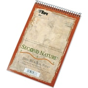 "TOPS® Second Nature Wirebound Steno Pad, 6"" x 9"", Gregg Rule, White, 100% Recycled, 80 Sheets (74688)"