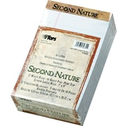 "Second Nature® Legal Notepad, jr. Legal Rule, 5"" x 8"", Perforated, Recycled, 50 Sheets/Pad, 12 Pads/Pack"