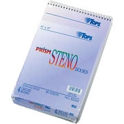 "TOPS® Prism Steno Notebook, 6"" x 9"", Gregg Rule, Orchid, 100% Recycled, 80 Sheets/Pad, 4 Pads/Pack (80264)"
