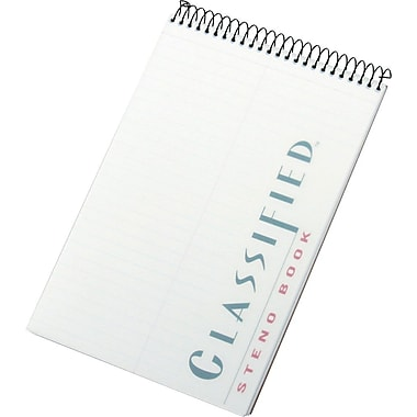 TOPS® Classified™ Steno Book, White, Gregg Ruled, 6