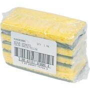 """Premiere Heavy-Duty Scrubbing Sponge, Yellow, 3 3/8""""H x 6 1/4""""W x 1""""D, 20/Pk"""
