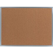 "Universal Cork Bulletin Board, Aluminum Frame, 24""W x 18""H (UNV43612)"