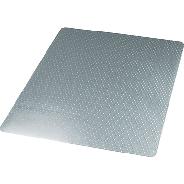 Universal Cleated Chairmat, For Medium Pile Carpets, No Lip, Rectangular, 46