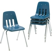 Virco® 9000 Series Plastic Stacking Chairs, 4/Pack, Navy