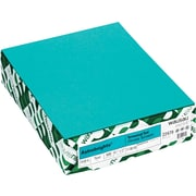 "Wausau Papers® 21849 Astrobrights Paper, Terrestrial Teal, 8 1/2""(W) x 11""(L), 500 Sheets"