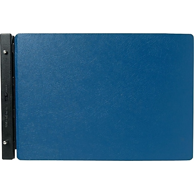 Wilson Jones Raven Vinyl-Guarded Binder, 11in. x 17in., 8-1/4 Center, Light Blue