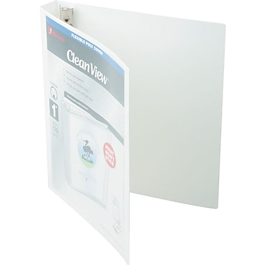 1in. Wilson Jones® Flexible View Binder with Round Rings, White