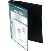 "Wilson Jones Flex Poly View Binder, Black, 220 Sheet Capacity, 1"" (Ring Diameter)"