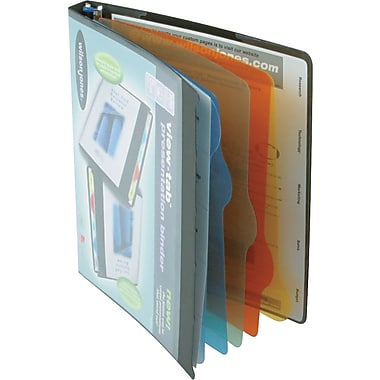 5/8in. Wilson Jones® All-In-One View-Tab® Round Ring Presentation Books, Black