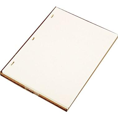 Looseleaf Minute Ledger Sheets, Ivory Linen, 11