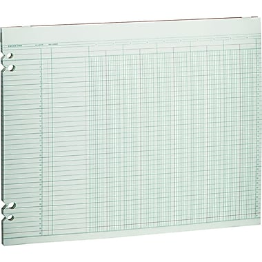 Wilson Jones Single Page Columnar Sheets, 11in. x 14in., 10 Columns