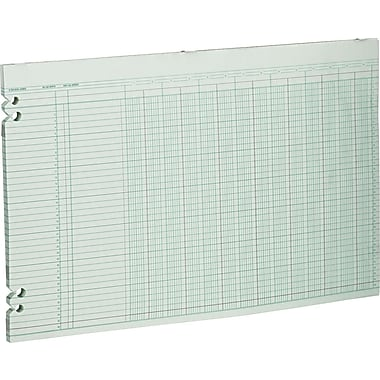 Wilson Jones Single Page Columnar Sheets, 11in. x 17in., 14 Columns
