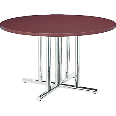 HON Self-Edge Round Laminate Conference Table Tops and Bases