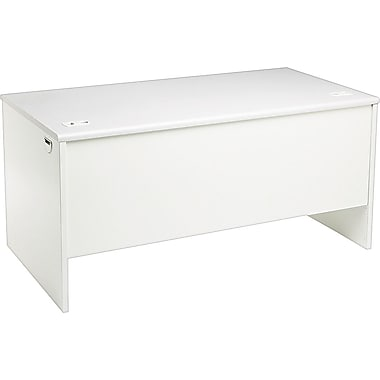 HON 38000 Series 60in. Desk Shell, Light Gray/Light Gray