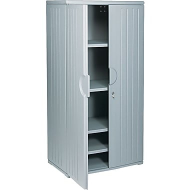 Iceberg Resinite Storage Cabinet, Charcoal, 72