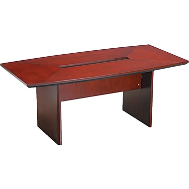 Mayline Corsica 6' Boat-Shaped Wood Veneer Conference Table Top, Sierra Cherry