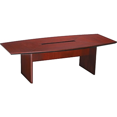 Mayline Corsica 8' Boat-Shaped Wood Veneer Conference Table Top, Sierra Cherry