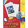 Avery® Inkjet Half-Fold Greeting Cards, White, Matte, 5