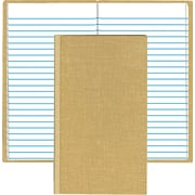 "Handy Size Bound Memo Book w/Stiff Tan Cover, 7"" x 4 3/8"", 96 Pages"