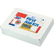 "First Aid Kit for Up to 25 People with Metal Case and Mountable Hanger, 10 1/2""W x 2 1/2""D x 7 1/2""H"