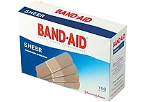 Band-Aid® Sheer Adhesive Bandages, 3/4 x 3'