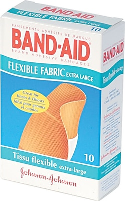 Band Aid Brand Flexible Fabric Extra Large Adhesive Bandages 1 1 4 x 4