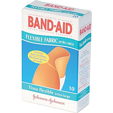 Band-Aid® Brand Flexible Fabric Extra Large Adhesive Bandages 1-1/4