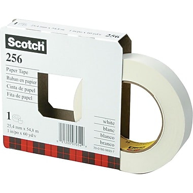 Scotch White Paper Tape, 1in. x 60 yds.