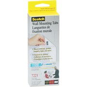 "Scotch® Wall Mounting Tabs, 1/2"" x 3/4"", 144 Tabs/Box"