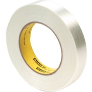 "3M Economy Grade Glass Filament Tape, 3"" Core, Clear, 24mm x 55m, 1/Rl"