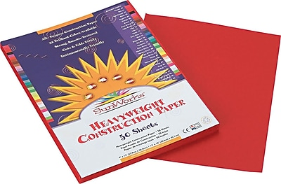 Pacon SunWorks Construction Paper 58 lbs. Red 9 x 12 50 Sheets Pk