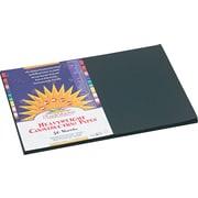 "Pacon SunWorks Construction Paper, 58 lbs., Black, 12"" x 18"", 50 Sheets/Pk"