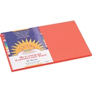 "Pacon SunWorks Construction Paper, 58 lbs., Orange, 12"" x 18"", 50 Sheets/Pk"