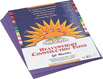 Pacon SunWorks Construction Paper 58 lbs. Violet 9 x 12 50 Sheets Pk