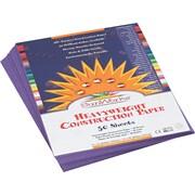 "Pacon SunWorks Construction Paper, 58 lbs., Violet, 9"" x 12"", 50 Sheets/Pk"