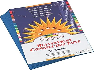 Pacon SunWorks Construction Paper 58 lbs. Blue 9 x 12 50 Sheets Pk