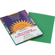 """Pacon SunWorks Construction Paper, 58 lbs., Holiday Green, 9"""" x 12"""", 50 Sheets/Pk"""