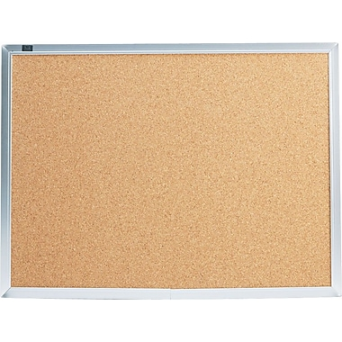 Quartet® 2' x 1-1/2' Cork Bulletin Board with Aluminum Frame