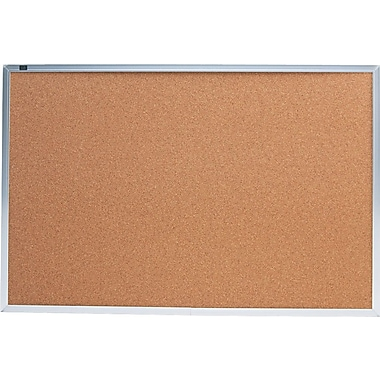 Quartet® 3' x 2' Cork Bulletin Board with Aluminum Frame