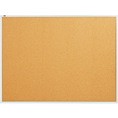 Quartet® 4' x 3' Cork Bulletin Board with Aluminum Frame