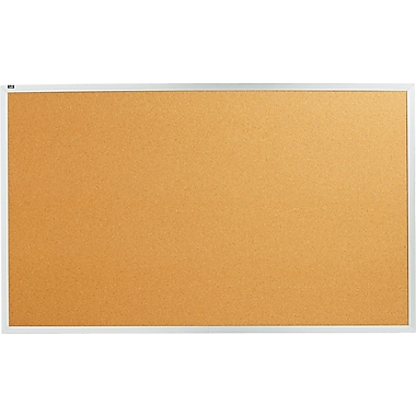 Quartet® 5' x 3' Cork Bulletin Board with Aluminum Frame