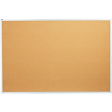 Quartet® 6' x 4' Cork Bulletin Board with Aluminum Frame