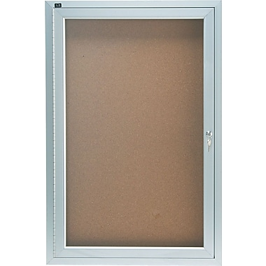 Quartet® Enclosed Cork Bulletin Boards with Aluminum Frame