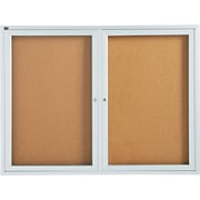 Quartet® 4' x 3' Enclosed Cork Bulletin Boards with Aluminum Frame