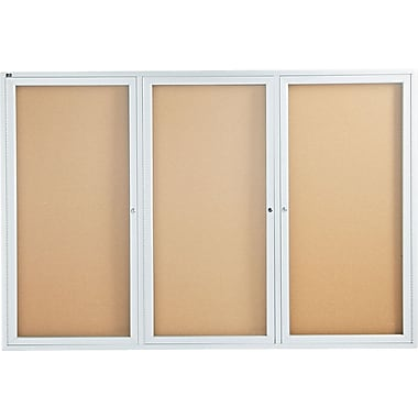 Quartet® 6' x 4' Enclosed Cork Bulletin Boards with Aluminum Frame