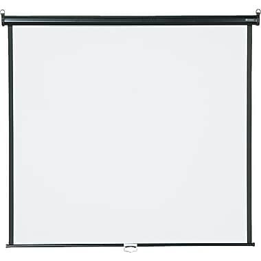 Quartet 85in. Diagonal 1:1 Aspect Mounted Pull Down Projector Screen