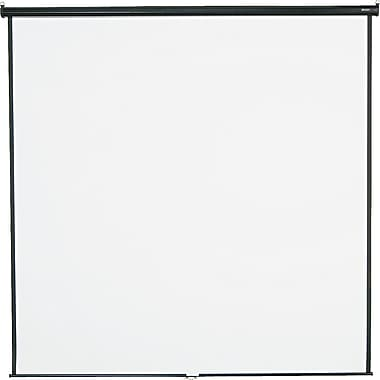 Quartet 136in. Diagonal 1:1 Aspect Mounted Pull Down Projector Screen